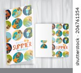greeting card design  template | Shutterstock . vector #206761354