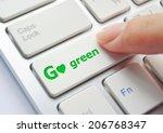 Finger Pressing Go Green Button ...