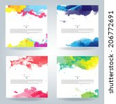 set of bright colorful vector... | Shutterstock .eps vector #206772691