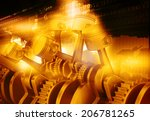 3d engine pistons and cog... | Shutterstock . vector #206781265