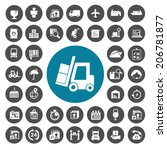 logistic and shipping icons set | Shutterstock .eps vector #206781877