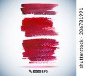 hand painted brush strokes.... | Shutterstock .eps vector #206781991