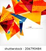 modern 3d glossy overlapping... | Shutterstock .eps vector #206790484