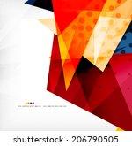modern 3d glossy overlapping... | Shutterstock .eps vector #206790505