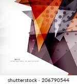 modern 3d glossy overlapping... | Shutterstock .eps vector #206790544