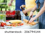 young people enjoying good... | Shutterstock . vector #206794144
