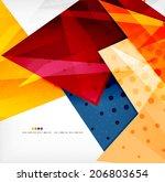 modern 3d glossy overlapping... | Shutterstock . vector #206803654
