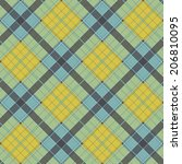 abstract pattern with plaid... | Shutterstock . vector #206810095
