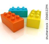 building blocks on white  | Shutterstock . vector #206812294