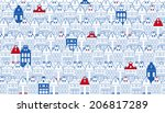 Vector Background With Rows Of...