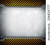 metal with caution stripes | Shutterstock . vector #206824777