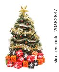 christmas tree with decorations | Shutterstock . vector #20682847
