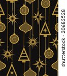 christmas seamless pattern... | Shutterstock .eps vector #20683528