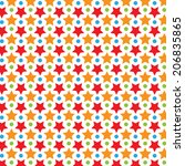 colorful star vector pattern | Shutterstock .eps vector #206835865