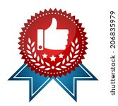 modern prize tag with thumbs up ... | Shutterstock .eps vector #206835979