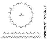 vector circle ornament border... | Shutterstock .eps vector #206837941