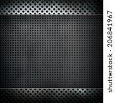 pattern of metal mesh background   Shutterstock . vector #206841967