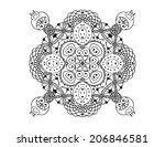 zentangle pattern on white...   Shutterstock . vector #206846581