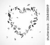 butterfly background   heart   Shutterstock .eps vector #206848849