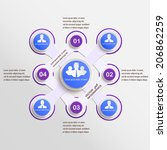 vector presentation... | Shutterstock .eps vector #206862259