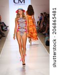 miami   july 19  model walks...   Shutterstock . vector #206865481