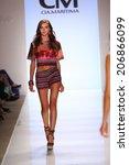 miami   july 19  model walks... | Shutterstock . vector #206866099