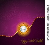beautiful golden rakhi for... | Shutterstock .eps vector #206870815