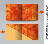 brochure template with abstract ... | Shutterstock . vector #206881024