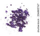 crushed purple eye shadow...   Shutterstock . vector #206885767