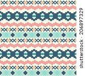 ethnic seamless pattern. aztec... | Shutterstock .eps vector #206897329