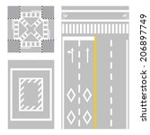crossing street. safety zone... | Shutterstock .eps vector #206897749