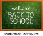 back to school written on... | Shutterstock . vector #206909695