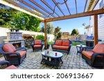 Backyard Cozy Patio Area With...