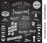 set of barbershop design icons. ... | Shutterstock .eps vector #206926864