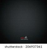 carbon metallic textures... | Shutterstock .eps vector #206937361