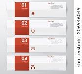 design clean number banners... | Shutterstock .eps vector #206946049