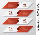 design clean number banners...   Shutterstock .eps vector #206946064