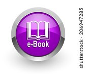 book pink glossy web icon | Shutterstock . vector #206947285