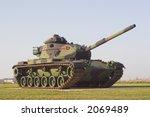 An army M60 Patton  tank on display.