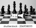 black and white king on a chess ... | Shutterstock . vector #206958055