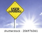 user experience road sign with...