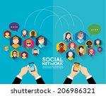 social networking people... | Shutterstock .eps vector #206986321
