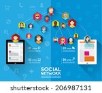 social networking people... | Shutterstock .eps vector #206987131