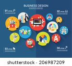 creative business and office... | Shutterstock .eps vector #206987209