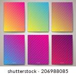 set of abstract brochure  ... | Shutterstock .eps vector #206988085