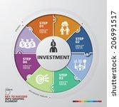 template modern info graphic... | Shutterstock .eps vector #206991517