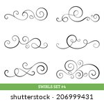 set of six vector flourish... | Shutterstock .eps vector #206999431