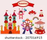 cute carnival set | Shutterstock .eps vector #207016915
