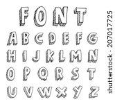 hand drawn alphabet. vector | Shutterstock .eps vector #207017725