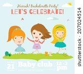 unusual vector happy birthday... | Shutterstock .eps vector #207024514